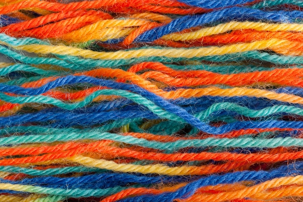 Many colorful yarns