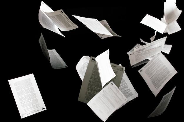 고립 된 많은 비행 비즈니스 문서