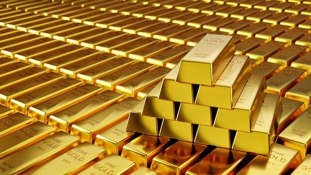 Многие золотые слитки накапливаются на фондовом рынке.