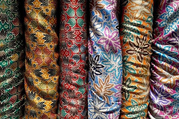 Many kind of batik