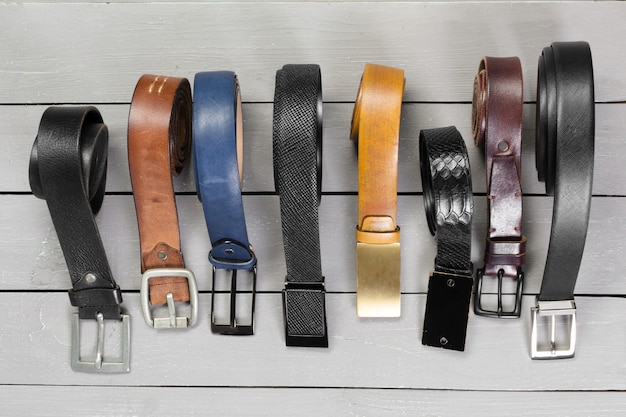 Many kinds of belts