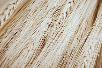 多くの小麦繊維と種