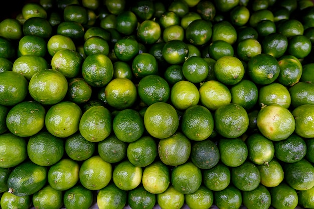 Many limes, top view.