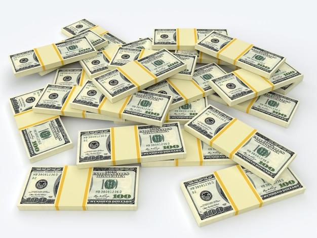 많은 돈 미국 달러 지폐. 비즈니스 및 금융 개념입니다.