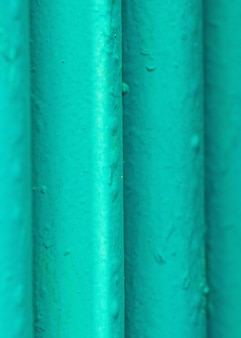 Many old green pipes.
