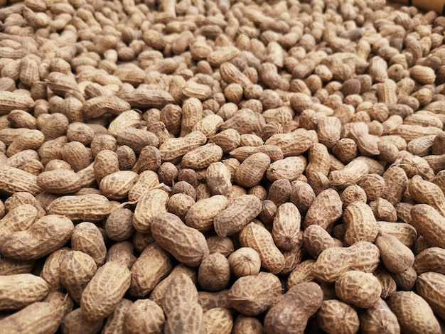 Many peanuts are waiting to be processed is product.