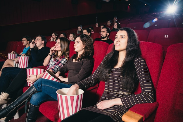 Many people in a movie theater session