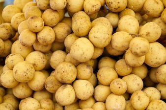 Many potatoes together