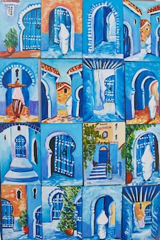 Many souvenirs and gifts in streets of chefchaouen