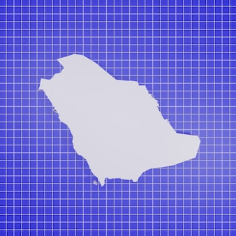 サウジアラビアのレンダリングの地図