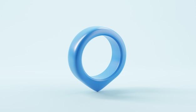 파란색 배경에 지도 포인터 핀