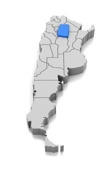 Map of santiago del estero province, argentina