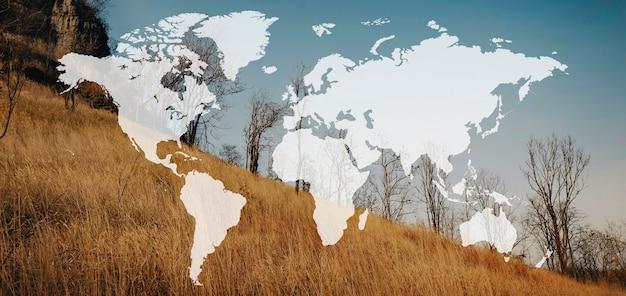 Mappa viaggio avventura modello grafico banner