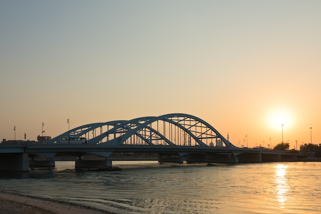 Maqta bridge, abu dhabi, united arab emirates