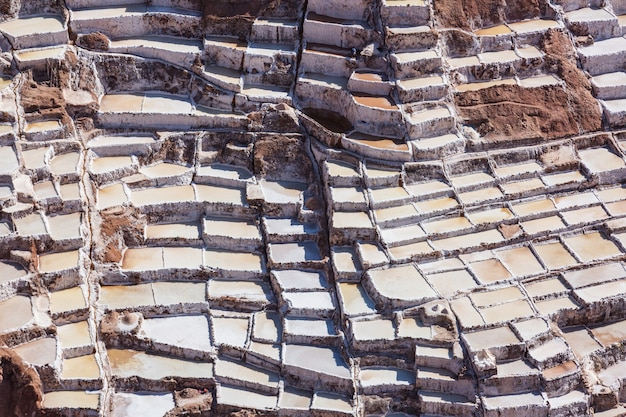 ペルーのウルバンバにあるマラス塩田