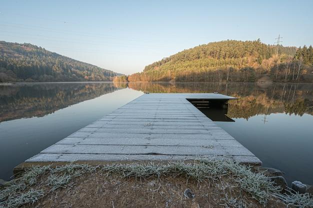 Lago marbach nell'odenwald