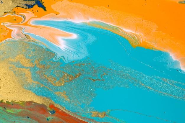 大理石の抽象的なアクリルアートワークテクスチャ鮮やかな液体の背景