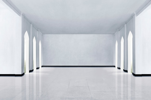Marble floor and white wall