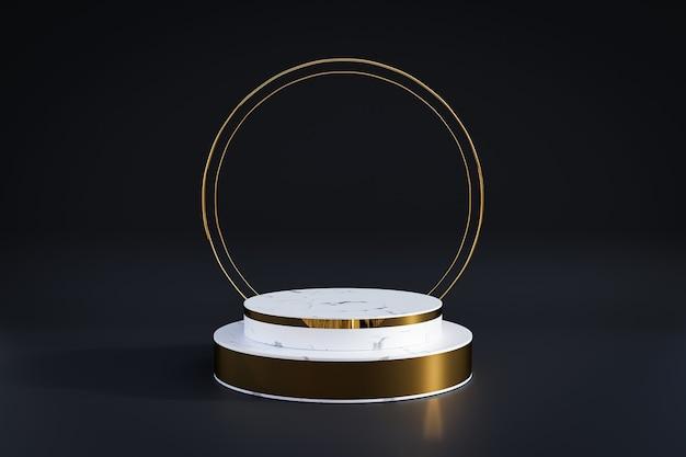 Marble pedestal for display, pedestal or platform, blank product stand.
