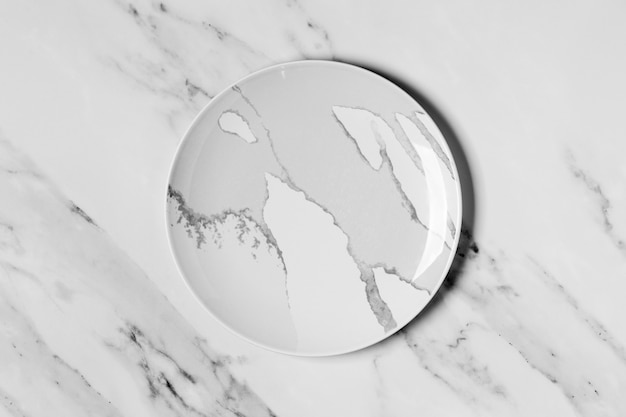 Marble plate on marble background