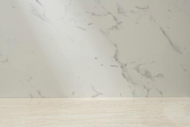 Espositore per vetrina sullo sfondo del prodotto in marmo