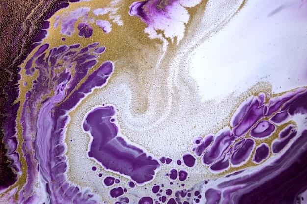 大理石の紫色のアクリルテクスチャ瑪瑙の波紋の背景