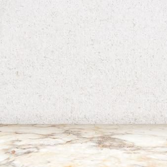 흰색 질감의 벽 제품 디스플레이 배경이 있는 대리석 방