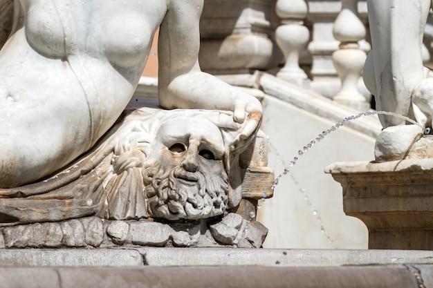 Marble statue in piazza pretoria, palermo, sicily