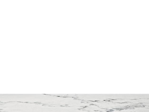 分離された白の大理石のテーブルトップ