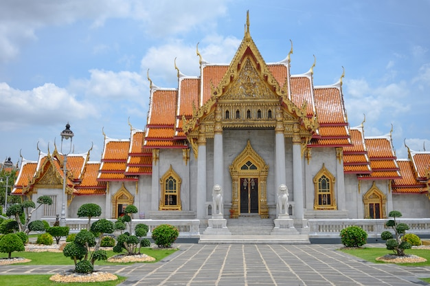 Marble temple wat benchamabophit in thailand