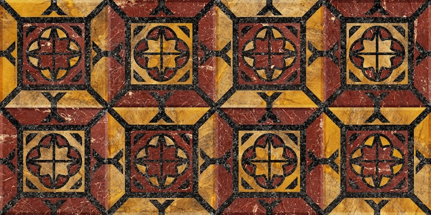 Marble tiles for interior design. mosaic made of natural polished stone. background texture