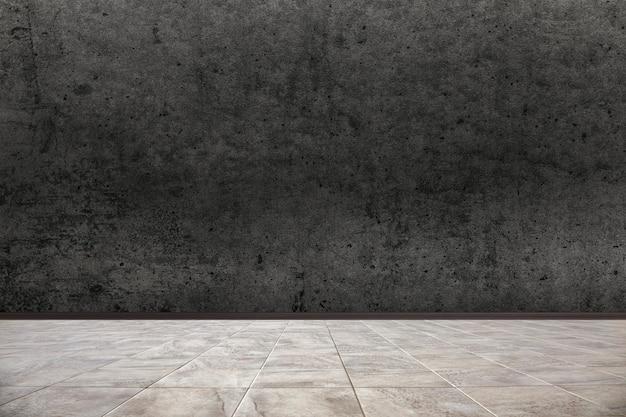 Мраморный пол и грязная стена