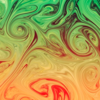 Marbling red; yellow and green texture design backdrop