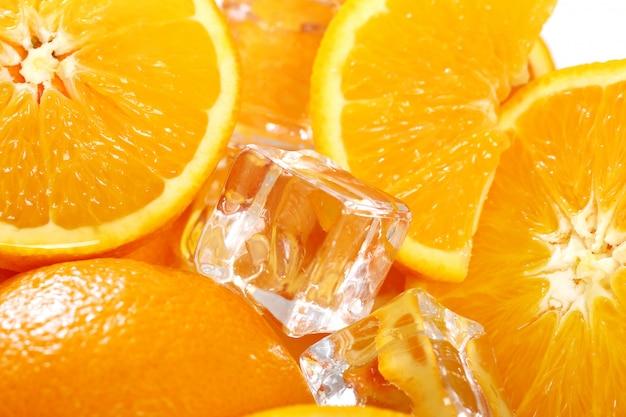 Marco of fresh oranges