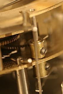 Старые часы выстрел marcro, ржавчины