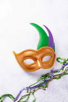 Mardi gras composition with carnival mask