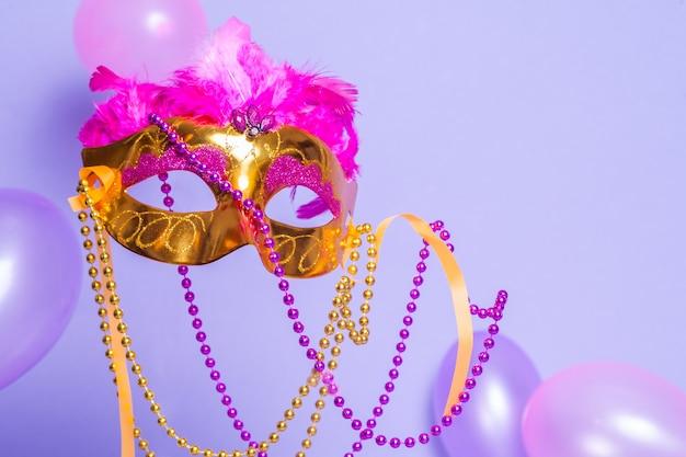 Mardi gras golden mask