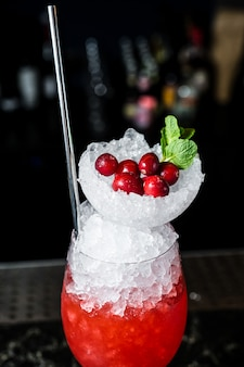 Margarita cocktail, side view, close up