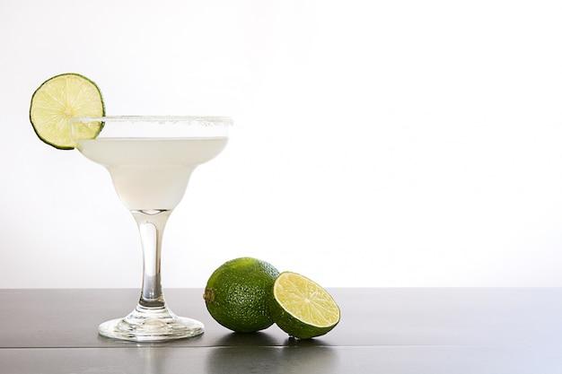 Margarita cocktail on white