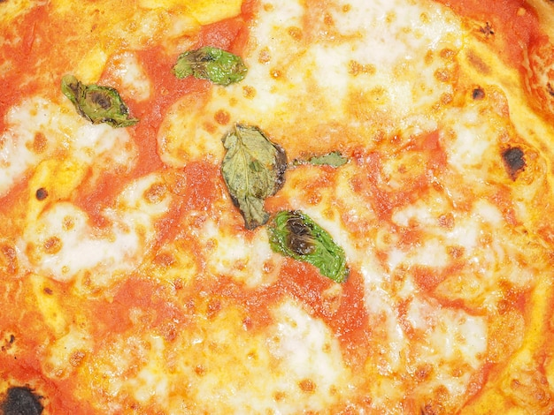 Margherita pizza background