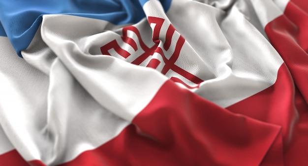 Mari el flag ruffles красиво машет макрос крупным планом выстрел