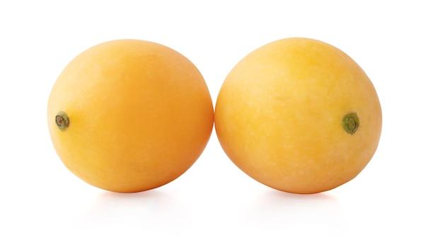 Marian plum fruit isolated