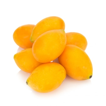 Marian plum thai fruit isolated. mayongchid. maprang. marian plum. plum mango