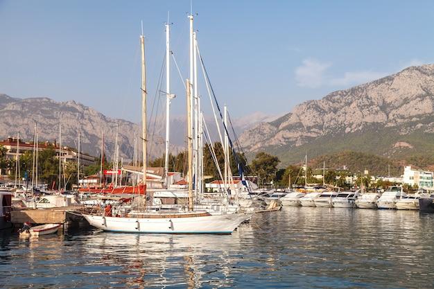 Marina on the mediterranean sea