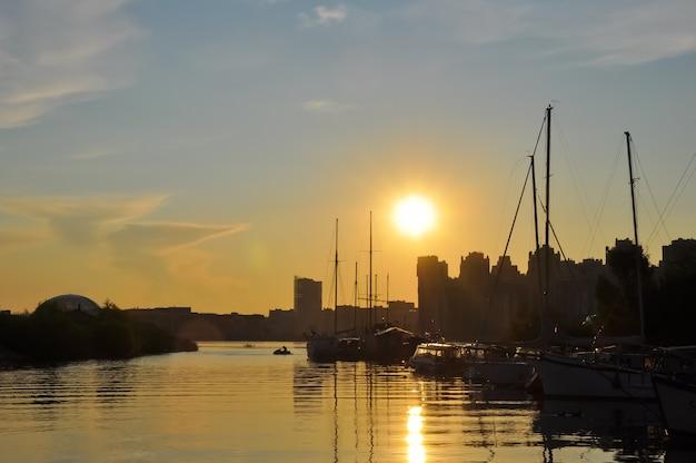 Marina at sunset.