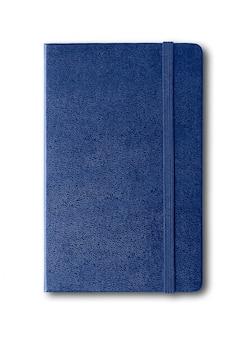 白で隔離マリンブルー閉じたノート