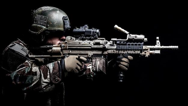 Marine special operator machinegunner