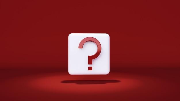 빨간색 배경, 최소 및 복사 공간에 기호 표시
