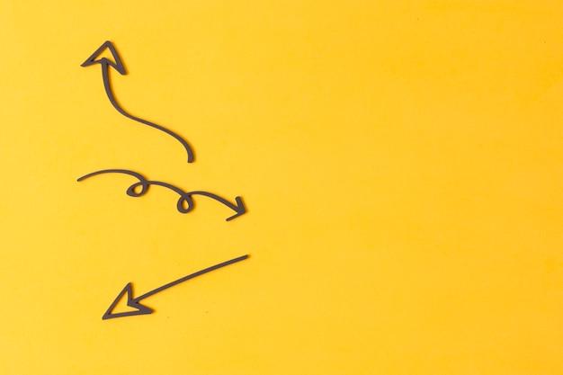 Disegni freccia marcatore con spazio di copia