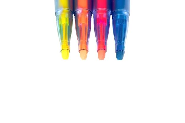 Marker pen set on isolated background